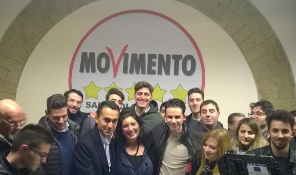 Giovani del m5s con il vicepresidente Luigi Di Maio